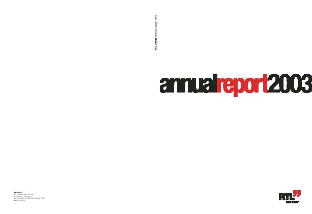 RTL Group annual report 2003