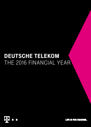 Deutsche Telekom annual report 2016