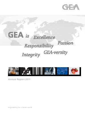 Gea Group annual report 2011