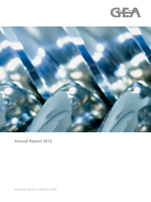 Gea Group annual report 2012