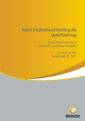 Kabel Deutschland annual report 2015
