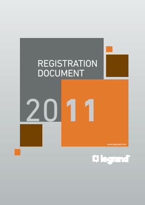 Legrand annual report 2011