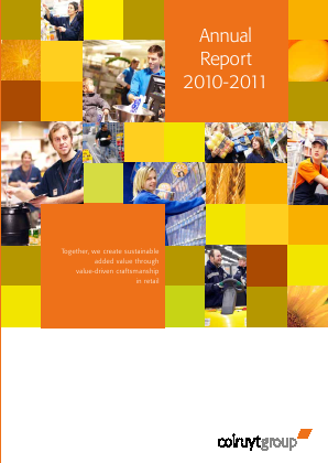 Colruyt annual report 2011