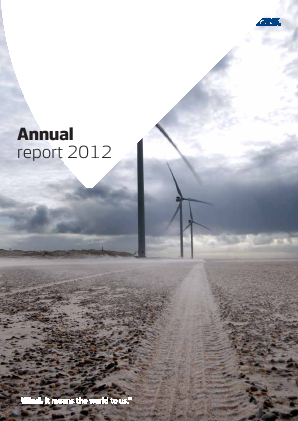 Vestas Wind Systems annual report 2012