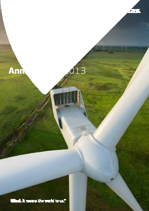 Vestas Wind Systems annual report 2013