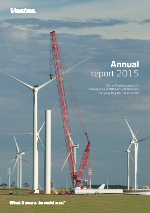 Vestas Wind Systems annual report 2015