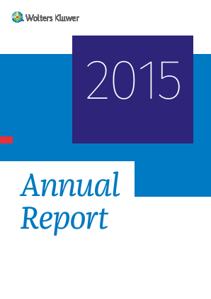 Wolters Kluwer annual report 2015