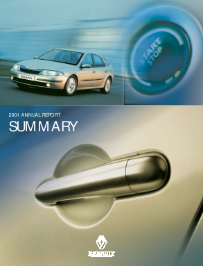 Renault annual report 2001