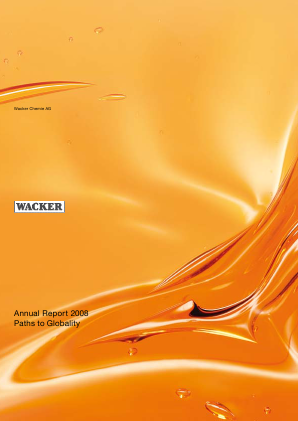 Wacker Chemie annual report 2008