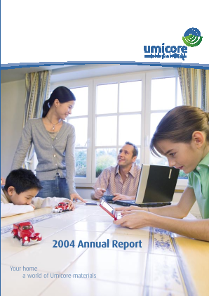 Umicore annual report 2004