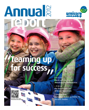 Umicore annual report 2012