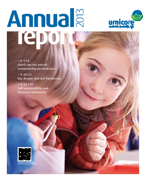 Umicore annual report 2013