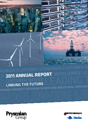 Prysmian annual report 2011
