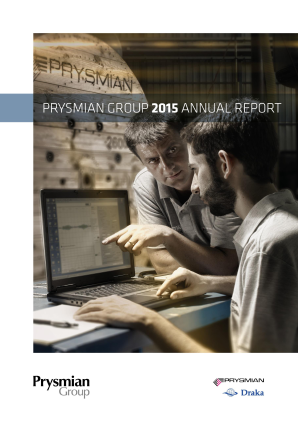 Prysmian annual report 2015