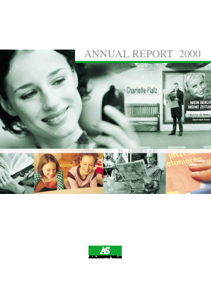 Axel Springer annual report 2000