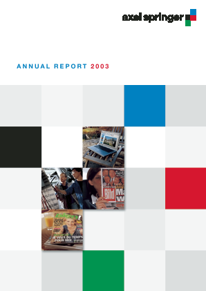 Axel Springer annual report 2003