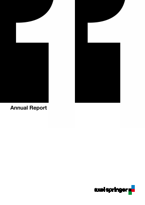 Axel Springer annual report 2011