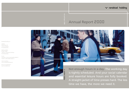 Randstad Holding annual report 2000