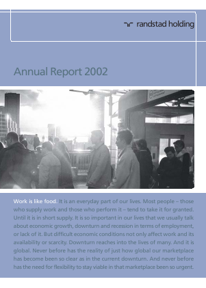 Randstad Holding annual report 2002