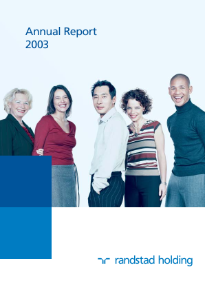 Randstad Holding annual report 2003