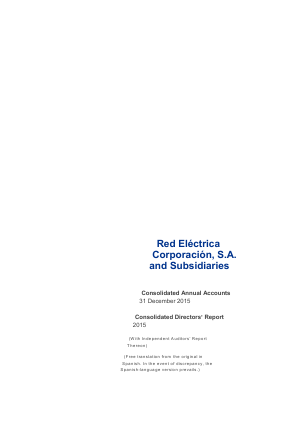 Red Electrica annual report 2015
