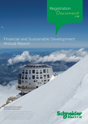 Schneider Electric annual report 2012