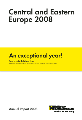 Raiffeisen Bank International annual report 2008