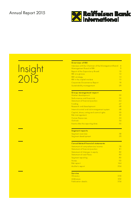 Raiffeisen Bank International annual report 2015