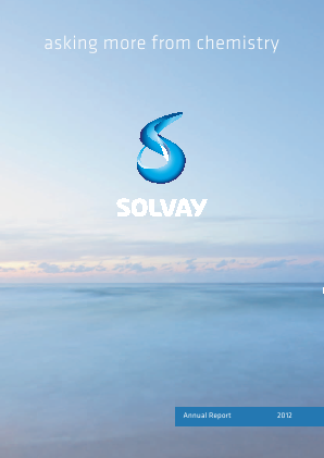 Solvay annual report 2012