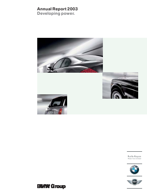 BMW annual report 2003