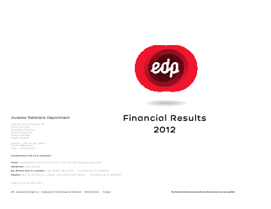 EDP Energias de Portugal annual report 2012