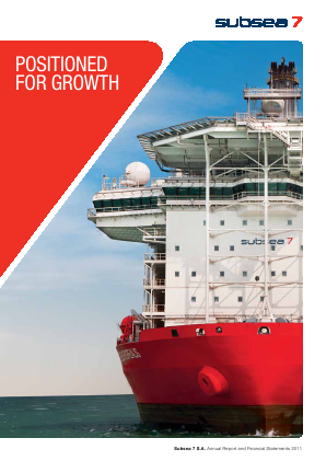 Subsea 7 annual report 2011