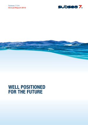 Subsea 7 annual report 2012