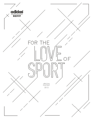 Adidas annual report 2013