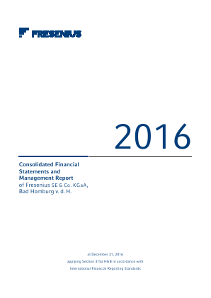 Fresenius annual report 2016