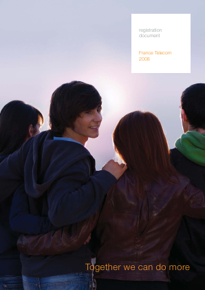 Orange annual report 2008