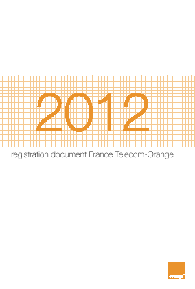 Orange annual report 2012
