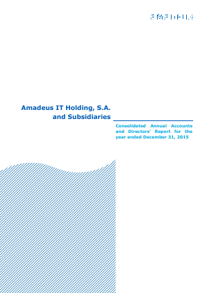 Amadeus IT annual report 2015