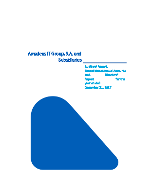 Amadeus IT annual report 2017