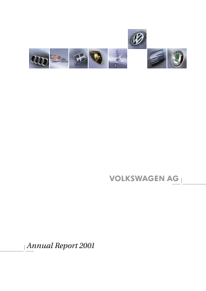 Volkswagen annual report 2001