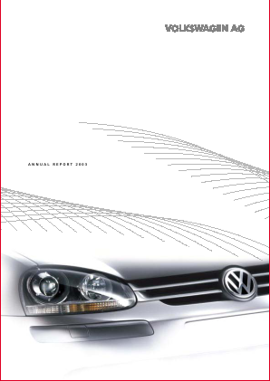 Volkswagen annual report 2003