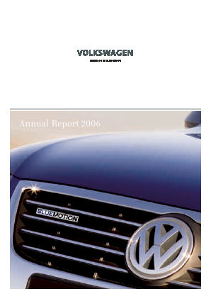 Volkswagen annual report 2006
