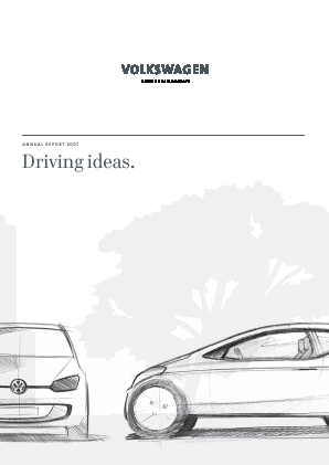 Volkswagen annual report 2007