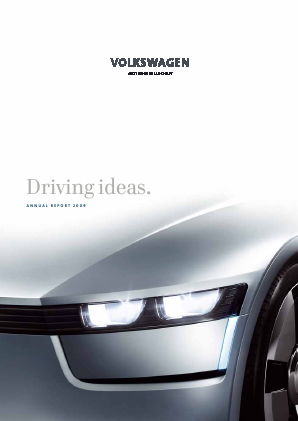 Volkswagen AG annual report 2009