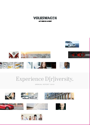 Volkswagen annual report 2012