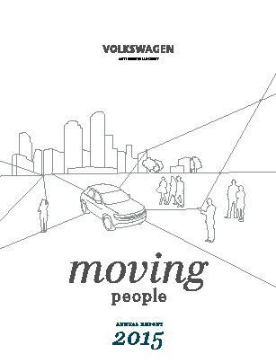 Volkswagen AG annual report 2015