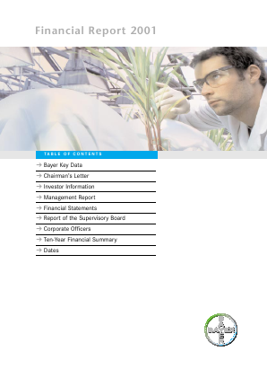 Bayer annual report 2001