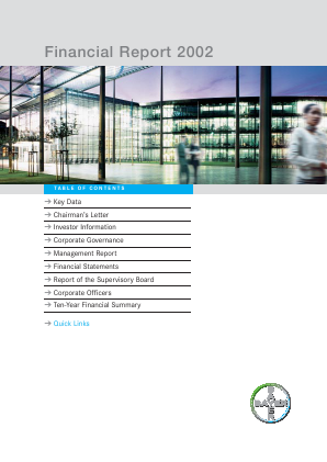 Bayer annual report 2002