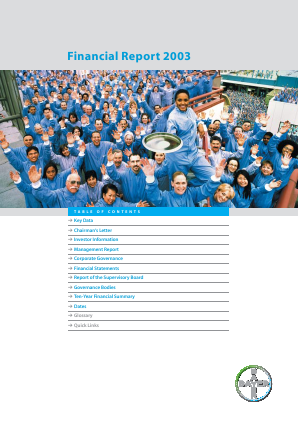 Bayer annual report 2003