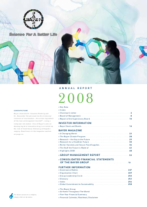 Bayer annual report 2008